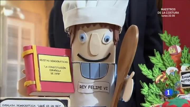 Un ninotdel Reicuiner, en el programa Audienciaabierta, deTVE-1.