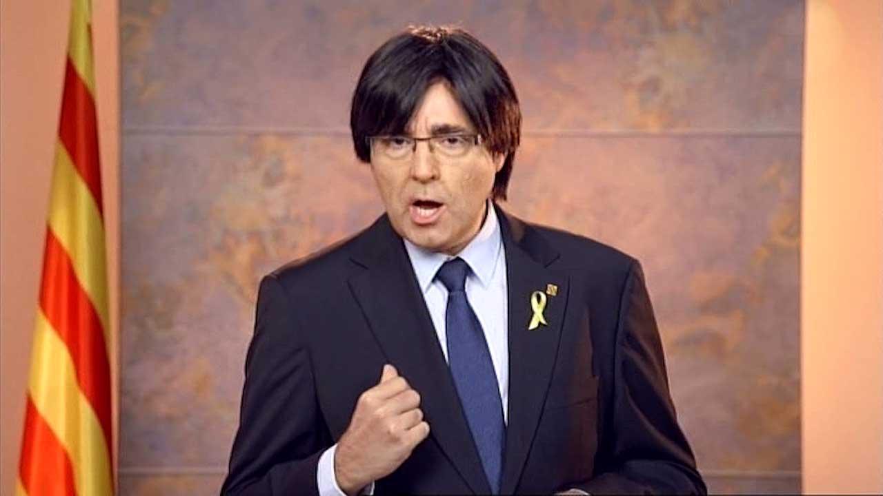 Raúl Pérez interpreta a Carles Puigdemont.