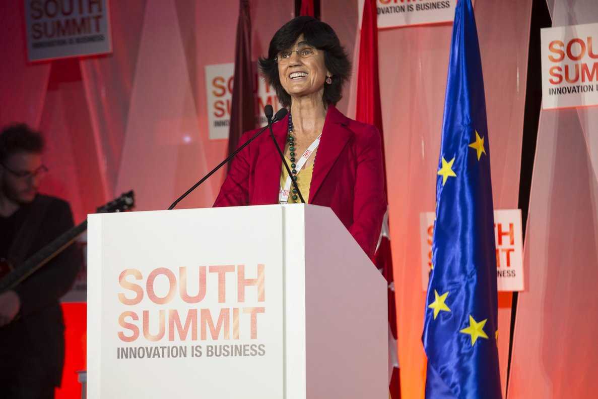 María Benjumea, fundadora de Spain Startup-South Summit durante el encuentro de 2018