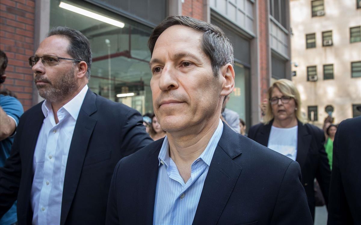 Tom Frieden, tras ser detenido.