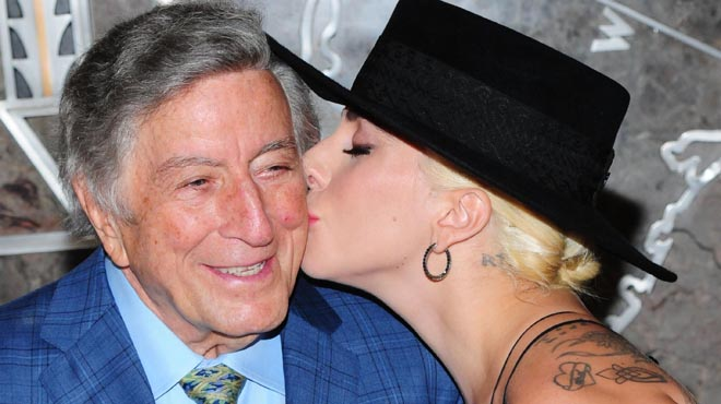 Tony Bennett celebra sus 90 años con Lady Gaga.