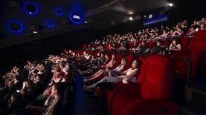 Una de las salas de los cines Full HD de Cornellà.