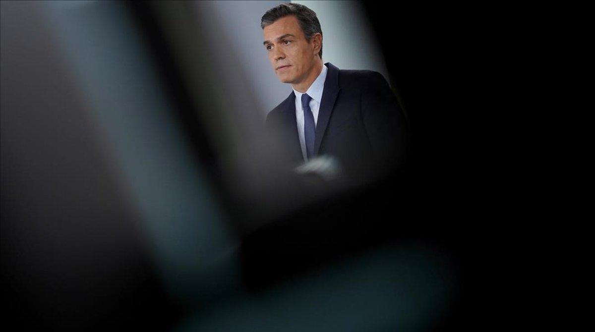 El presidente en funciones durante su última comparecencia en la Moncloa, el 17 de septiembre.