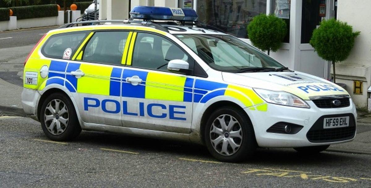 Vehículo de la policía británica.