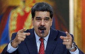 Venezuela s President Nicolas Maduro gestures as he speaks during a news conference at Miraflores Palace in Caracas Venezuela January 25 2019 REUTERS Manaure Quintero NO RESALES NO ARCHIVES
