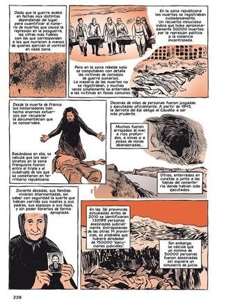 Viñetas del cómic sobre la guerra civil de Paul Preston y José Pablo García.