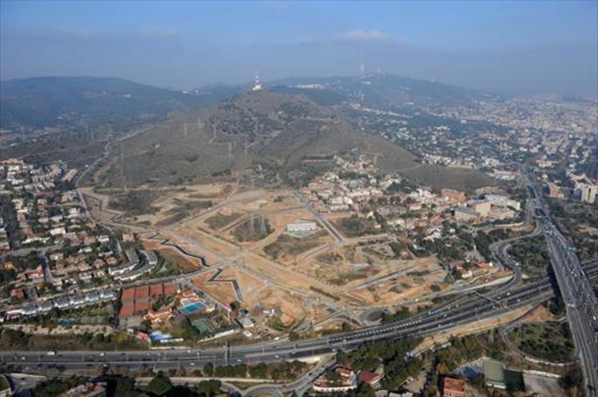 Vista aérea del nuevo barrio de Finestrelles, de Esplugues de Llobregat.