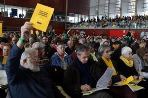 Votación en la asamblea general ordinaria de la ANC del pasado 25 de febrero.