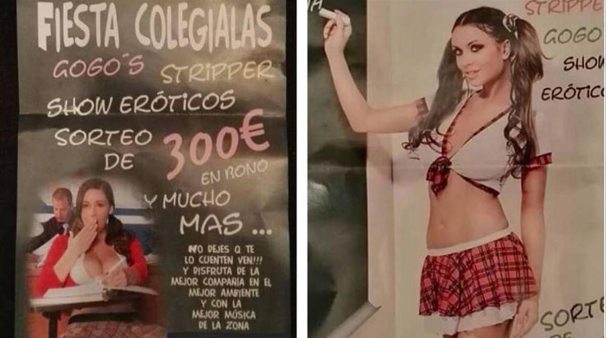 El cartel del prostíbulo de Cartaya.