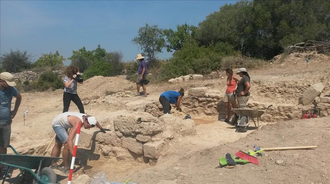 Yacimiento dela fortificacion romana encontrada en La Secuita. Tarragona.