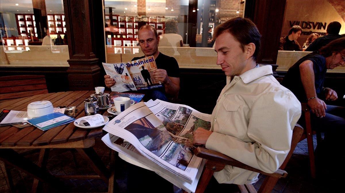 Café con prensa