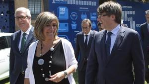 Nuria Marín y Carles Puigdemont.