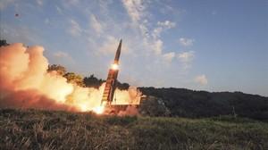 Lanzamiento de un misil surcoreano.