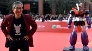 Go Nagai, en la presentación de Mazinger Z. Infinity en el festival de Roma.