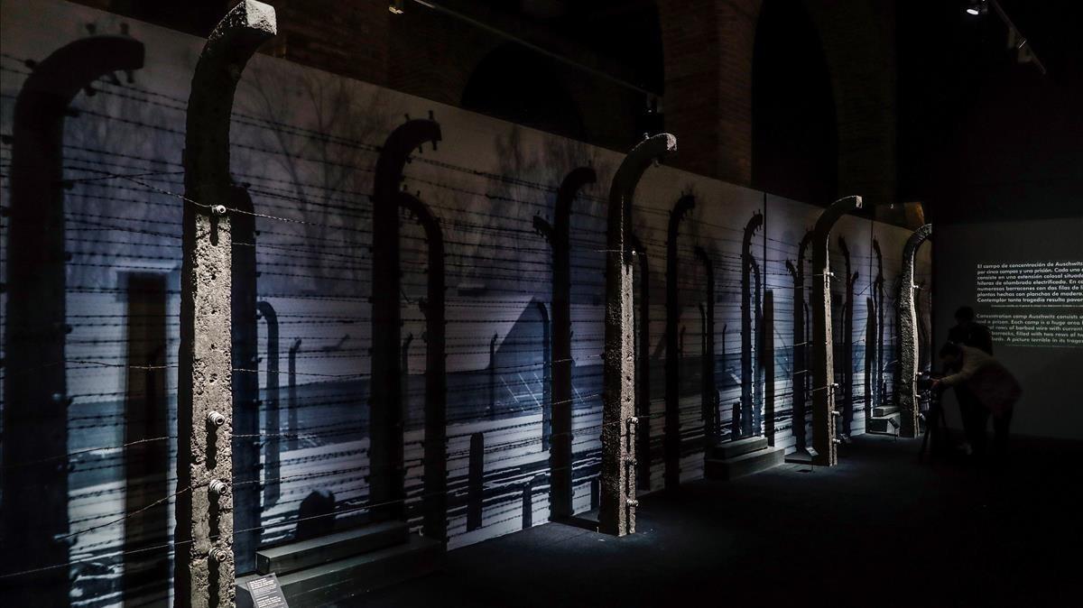 La exposición sobre 'Auschwitz', en Madrid.