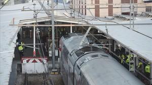 Quaranta ferits en l'accident d'un tren Rodalies a Alcalá de Henares