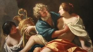 Lot, emborrachado por sus hijaspara que las que fecunde, según la versión del pintor Simon Vouet.
