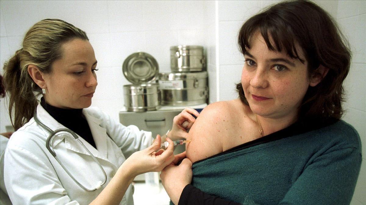 Vacunación contra el sarampión.