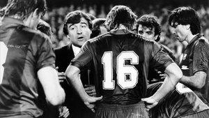 El Barça de Terry Venables lucía camisetas Meyba en aquellos años 80.