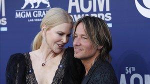 Keith Urban, junto a su mujer, la actriz Nicole Kidman, en un acto en Las Vegas en abril pasado.