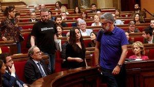 Bronca majúscula al Parlament per l'empresonament dels CDR