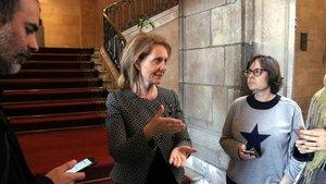 La 'consellera' de Cultura,Mariàngela Vilallonga,este jueves, en el Departament de Cultura.