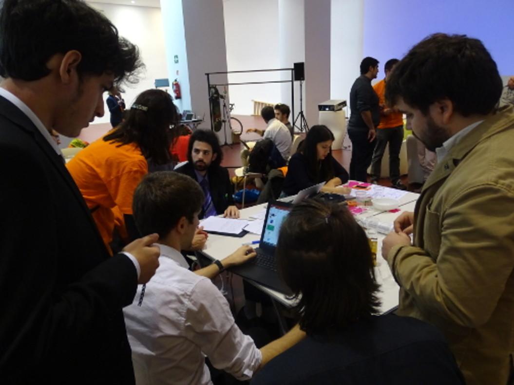 Participants del hackathon sobre mobilitatsostenible al Tecnocampus Mataró.