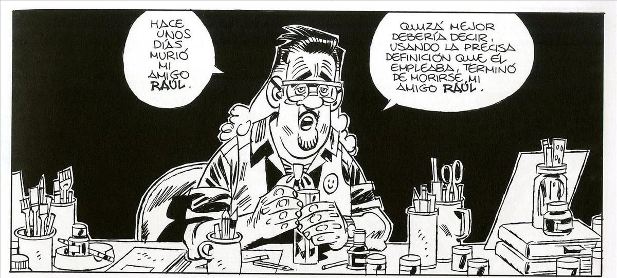 El personaje y álter ego de Carlos Giménez, en la primera viñeta de Crisálida, el nuevo cómic del autor de Paracuellos.