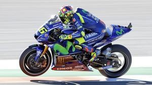 El italiano Valentino Rossi, durante el Gran Premio de Valencia del pasado domingo.