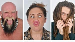 Algunos de los modelos aspirantes a formar parte de la agencia de modelos UGLY