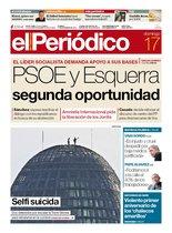 La portada de EL PERIÓDICO del 17 de noviembre del 2019