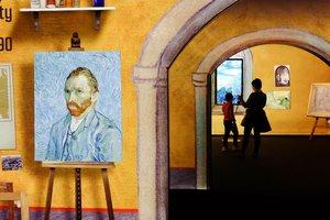 Los autorretratos del artista también están presentes en esta exposición.