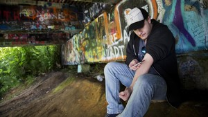Un adicto a la heroína en Washington.