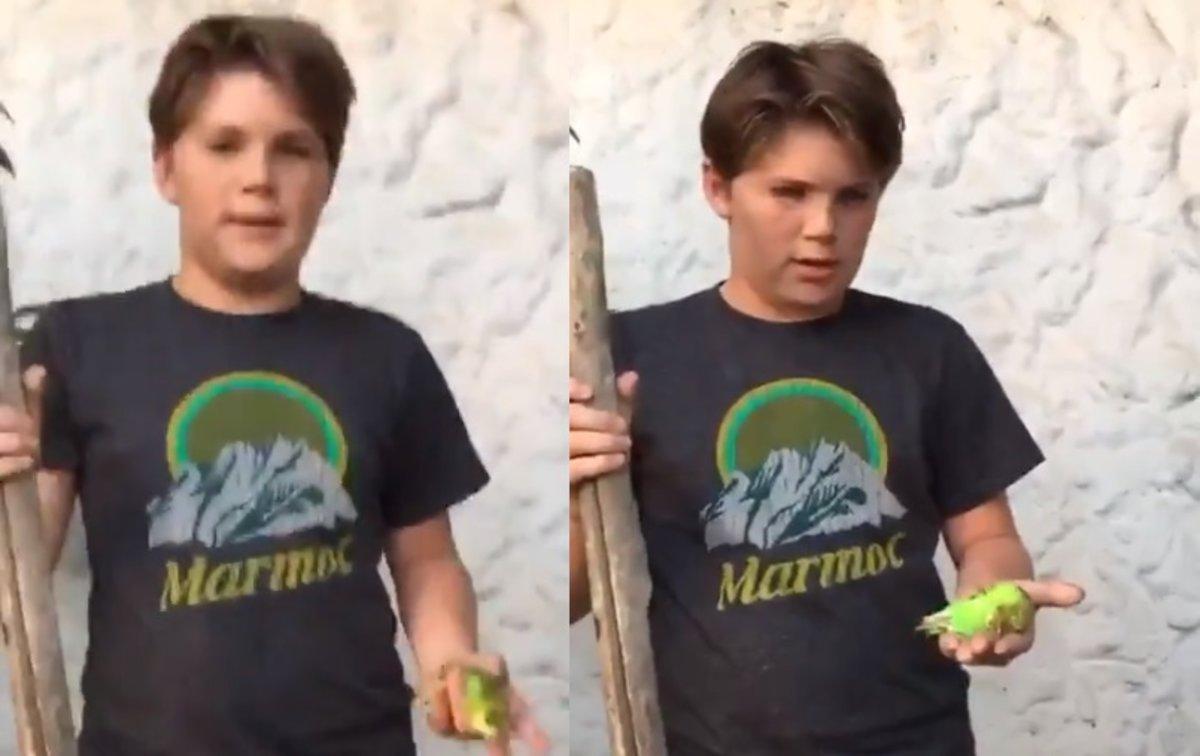 Renato de 13 años es el protagonista del video viral del año.