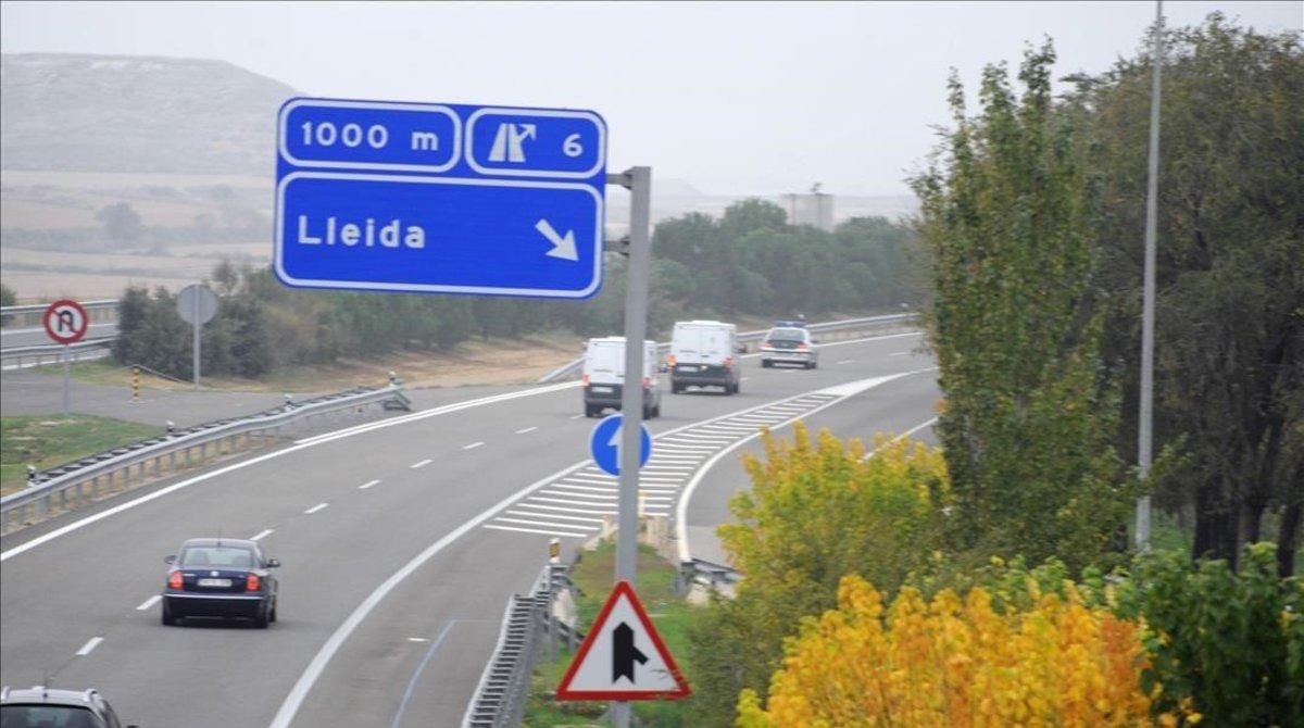 La AP-2 a su paso por Lleida.