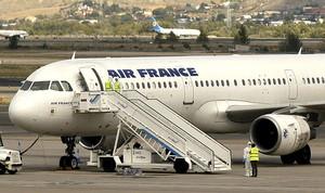 Avión de Air France en el aeropuerto de Barajas.