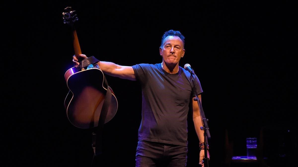 Bruce Springsteen, en el teatro Walter Kerr de Broadway