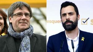 Carles Puigdemont y Roger Torrent