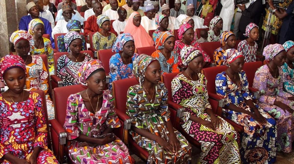 Un grupo de 21 estudiantes deChibok liberadas el año pasado esperan ser recibidas por el presidente de Nigeria en el mes de octubre.