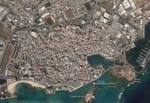Imagen aérea de Arrecife, en Lanzarote.