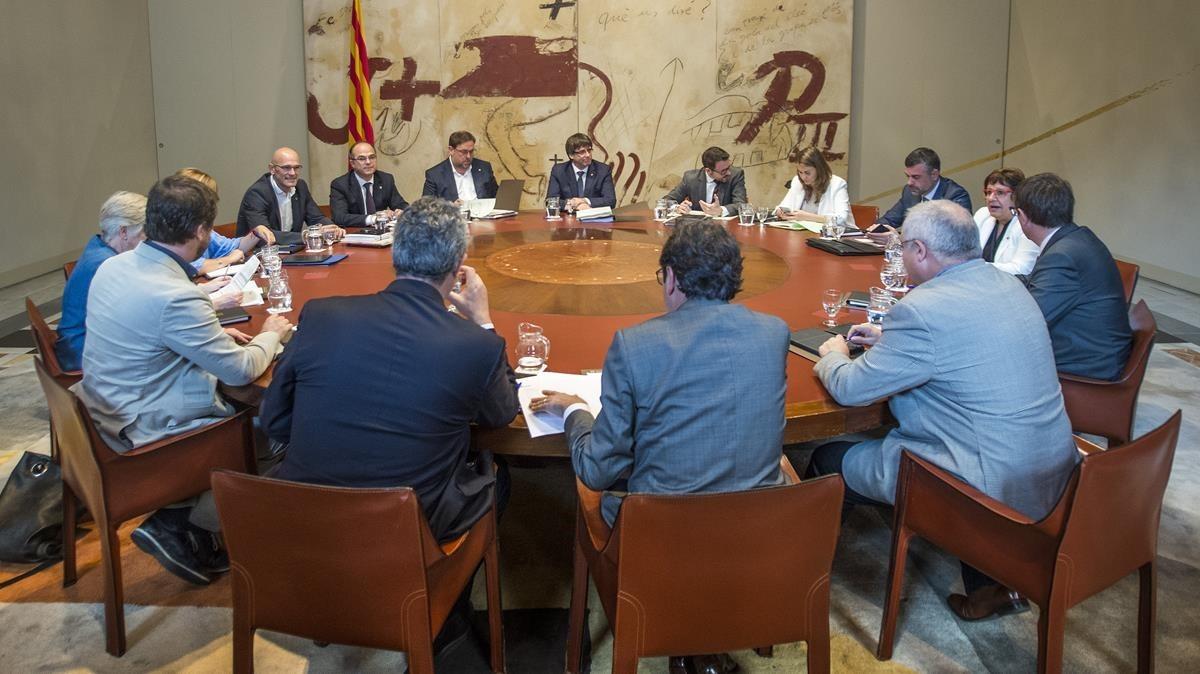 Reunión del Consell Executiu de este martes.