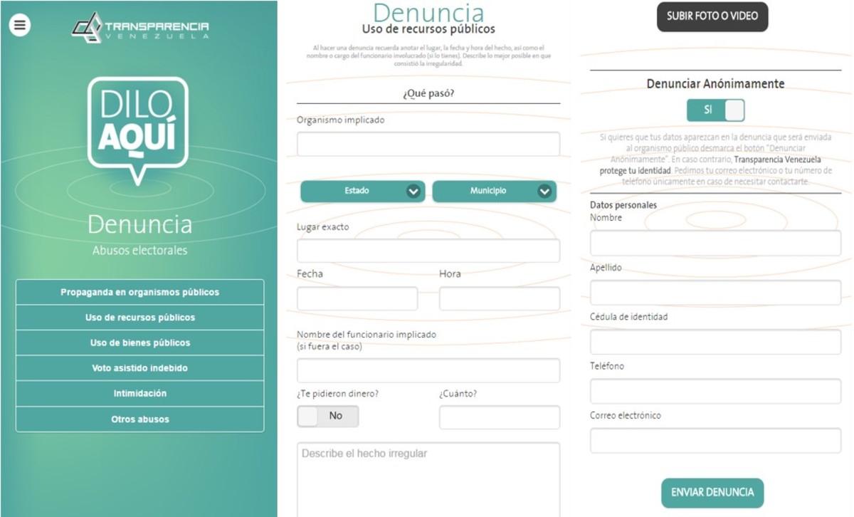 La denuncia se hace a través de este sencillo formulario