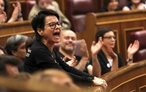 La diputada brasileña de ERC Maria Carvalho, durante la sesión constitutiva del Congreso.