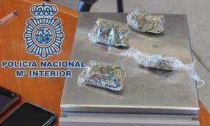 Marihuana incautada por la Policía.