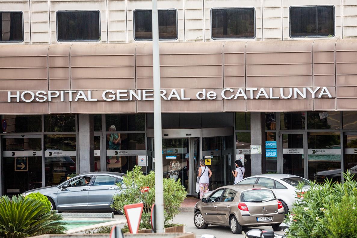 Entrada del Hospital General de Catalunya, en Sant Cugat.