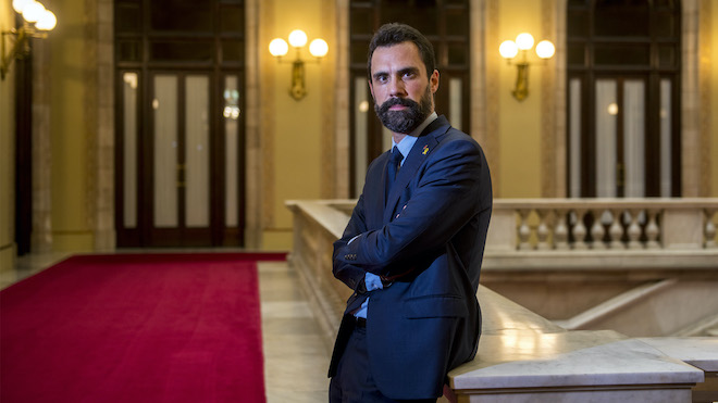 Roger Torrent, esta semana en el Parlament