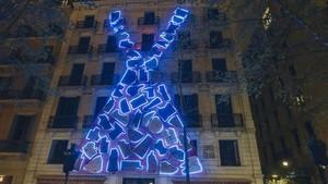 La fachada de Santa Eulalia mostrará este aspecto hasta Sant Jordi.