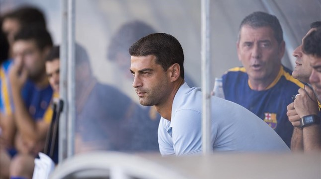 Gerard López. durante un encuentro de la pasada temporada
