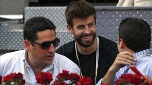 Gerard Piqué, promotor de la nueva Copa Davis, en el torneo Mutua Madrid Open en la Caja Mágica