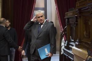 Germà Gordó, en el pleno del Parlament de 19 de noviembre del 2015.